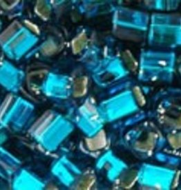 8 GM Toho Cube 3mm : Silver-Lined Teal (APX 150 PCS)
