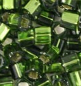8 GM Toho Cube 3mm : Silver-Lined Olivine (APX 150 PCS)