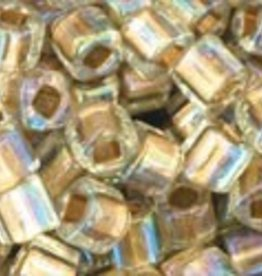 "Cube 3mm Tube 2.5"" : Gold-Lined Rainbow Crystal"