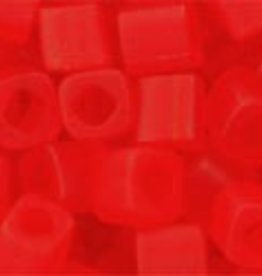 8 GM Toho Cube 4mm  : Transparent-Frosted Siam Ruby (APX 75 PCS)