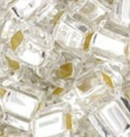 8 GM Toho Cube 4mm : Silver Lined Crystal (APX 75 PCS)