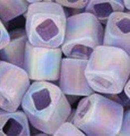 8 GM Toho Cube 4mm : Trans-Rainbow-Frosted Lt Tanzanite (APX 75 PCS)