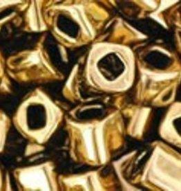 8 GM Toho Cube 4mm : Antique Bronze (APX 75 PCS)
