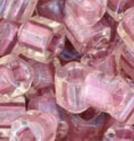 8 GM Toho Cube 4mm : Inside-Color Rainbow Crystal/Rose Lined (APX 75 PCS)