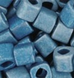 8 GM Toho Cube 4mm : Higher-Metallic-Frosted Mediterranean Blue (APX 75 PCS)