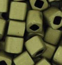 8 GM Toho Cube 4mm : Matte-Color Dark Olive (APX 75 PCS)