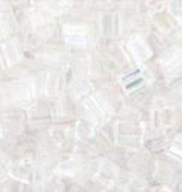8 GM Toho Triangle 11/0 : Trans-Rainbow Crystal (APX 550 PCS)