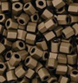 """Hex 11/0 Tube 2.5"""" : Matte-Color Dark Copper"""