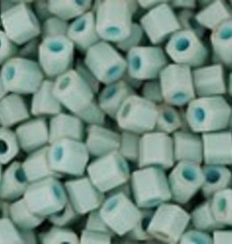 """Hex 11/0 Tube 2.5"""" : Opaque-Pastel-Frosted* Lt Turqouise"""