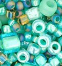 8 GM Toho Multi-Shape/Color Mix : Take- Seafoam/Green Mix