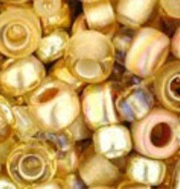 8 GM Toho Multi-Shape/Color Mix : Kintaro- Gold Mix