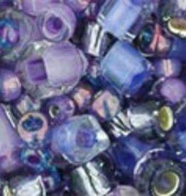 8 GM Toho Multi-Shape/Color Mix : Kawaii- Purple/Green Mix