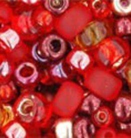 8 GM Toho Multi-Shape/Color Mix : Momiji- Red Mix