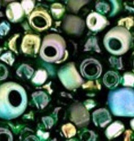 8 GM Toho Multi-Shape/Color Mix : Bonsai- Green/Black Mix