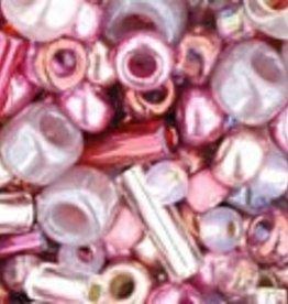 """Multi-Shape/Color Mix Tube 2.5"""" : Hime- Pink Mix"""