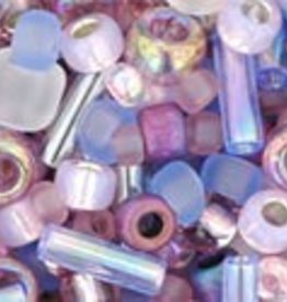 """Multi-Shape/Color Mix Tube 2.5"""" : Kimono- Lilac Mix"""