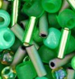 "Multi-Shape/Color Mix Tube 2.5"" : Wasabi- Green Mix"
