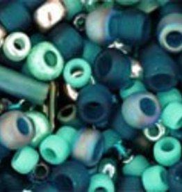 """Multi-Shape/Color Mix Tube 2.5"""" : Tatsu- Teal Mix"""