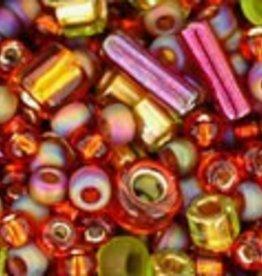 """Multi-Shape/Color Mix Tube 2.5"""" : Ureshii- Olivine/Orange Mix"""