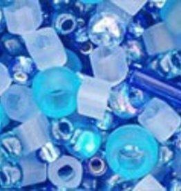 """Multi-Shape/Color Mix Tube 2.5"""" : Amamizu- Blue Mix"""