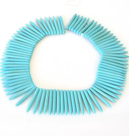 "Magnesite Dyed Turquoise : 45mm Spike 15.5"" Strand"
