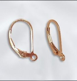 2 PC Rose Gold Filled - Leverback w/Open Ring