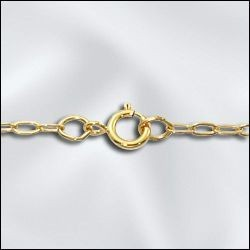 """1 PC 24"""" Gold Filled Drawn Cable Chain w/ Springring"""
