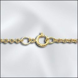 """1 PC 24"""" Gold Filled Cable Chain w/ Springring"""