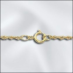 "1 PC 18"" Gold Filled Rope Chain w/ Springring"