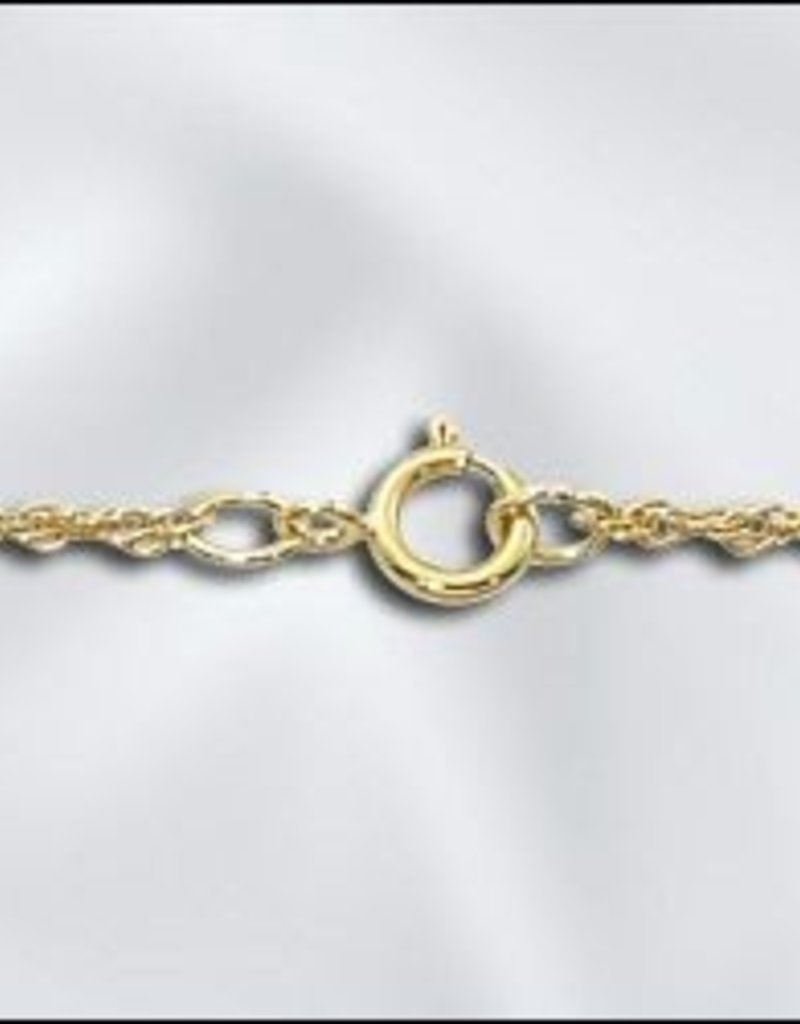 """1 PC 18"""" Gold Filled Rope Chain w/ Springring"""