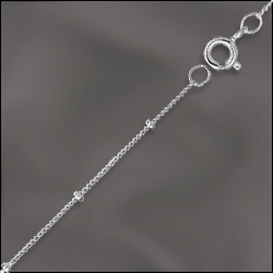 """1 PC 18"""" Sterling Silver Satellite Chain w/ Springring"""