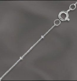 "1 PC 18"" Sterling Silver Satellite Chain w/ Springring"