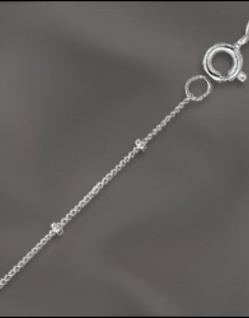 """1 PC 24"""" Sterling Silver Satellite Chain w/ Springring"""