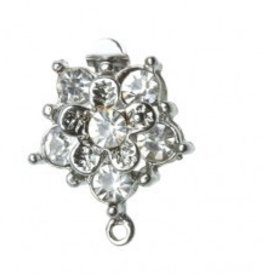 2 Set SP 15x20mm Crystal Flower Box Clasp