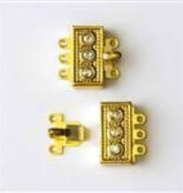 3 Set GP 18mm Rhinestone Box Clasp