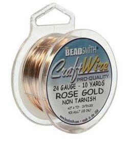 10 YD 24GA Craft Wire : Rose Gold