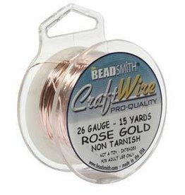 15 YD 26GA Craft Wire : Rose Gold