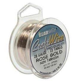 15 YD 28GA Craft Wire : Rose Gold