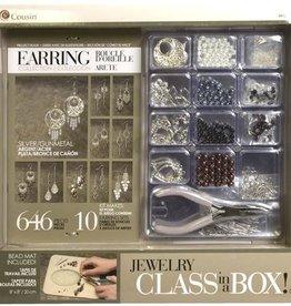Silver & Gunmetal Earring Class In a Box Kit