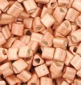 8 GM Toho Triangle 11/0 : Galvanized-Matte Rose Gold (APX 550 PCS)