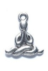 1 PC ASP 16mm Yoga/Meditation Figure Charm
