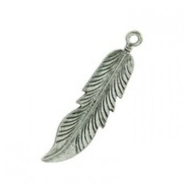 1 PC ASP 12x46mm Feather Charm