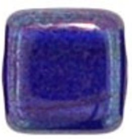 50 PC 6mm 2 Hole Tile : Cobalt Vega