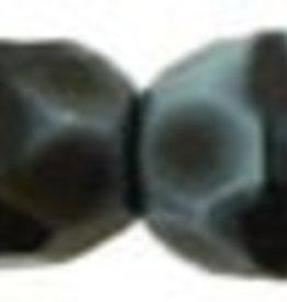 50 PC Firepolish 4mm : Luster Iris - Marbled Lt. Blue/Black