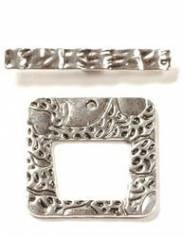 1 Set ASP 42mm Textured Square Toggle Clasp