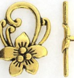 2 Set AGP 31x20mm Flower Toggle Clasp