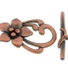2 Set ACP 31x20mm Flower Toggle Clasp