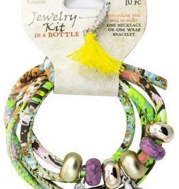 10pc Multicolor Surfs Up Wrapped Cord with Metal and Acrylic Beads and Charms