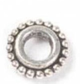 10 PC ASP 3x9mm Large Hole Beaded Spacer Bead