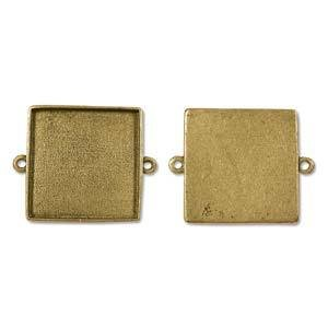 1 PC AGP 24x41.7mm Grande Square Link ID 1.25""